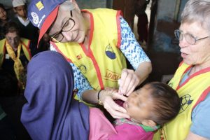 Beth Gives the Gift of Polio Vaccine